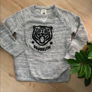 Heather gray tiger sweater 🐯